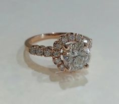 Take a look at this amazing Rose Gold engagement ring we just added to the Engagement Ring Outlet! It features a beautiful round I-color Diamond with total.you will save thousands when you purchase from the Engagement Ring Outlet! That Look, Take That, Colored Diamonds, Rose Gold, Posts, Engagement Rings, Amazing, Beautiful, Jewelry