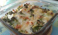 Gratinado de brócoli y patatas con queso