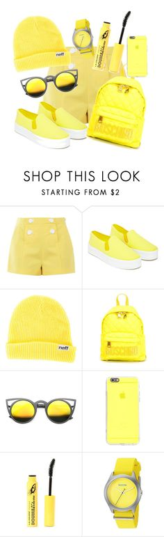 """""""14"""" by stepup-d ❤ liked on Polyvore featuring Boutique Moschino, Our Family, Neff, Moschino and Nixon"""
