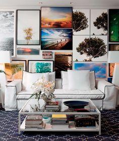 Como usar fotos na decoração das paredes - Casa
