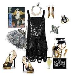 """The Roaring Twenties"" by explorer-14812429634 ❤ liked on Polyvore featuring Anna Sui, Lubin, Anton Heunis and Gatsby"