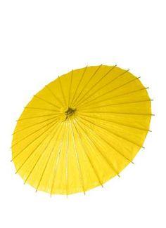 Papierschirm ca. 86 cm Ø gelb