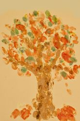 Activities: Fingerprint Fall Trees