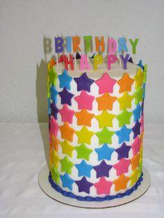 Rainbow Stars Birthday Cake — Birthday Cakes