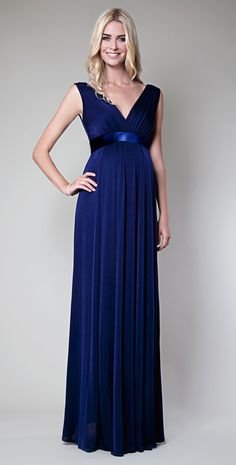Anastasia Maternity Gown (Eclipse Blue) - Maternity Wedding Dresses, Evening Wear and Party Clothes by Tiffany Rose.