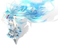 hatsune miku//blue//whie//