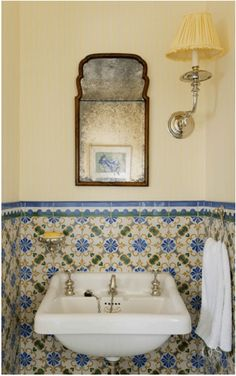 Olasky & Sinsteden Refresh a Centuries-Old Guernsey Island Home - The Glam Pad Modern Bathroom Decor, Bathroom Interior Design, Modern Decor, Bathroom Ideas, Colorful Bathroom, Bathroom Trends, Bathroom Designs, Bathroom Remodeling, Bathroom Furniture