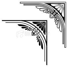 Detailed Corner Design Royalty Free Stock Vector Art Illustration