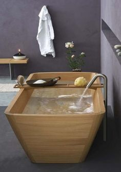 Stylish wooden bathroom collection by Francoceccotti