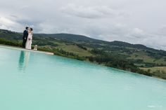 Certaldo wedding and reception in a winery in the hills. pretty even with the threatening clouds