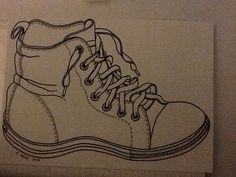 Line drawing of shoe