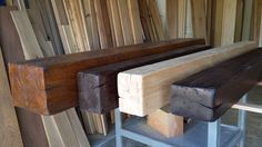 Distressed Alder Floating Beam Mantels. Call for quote 310 977 3218
