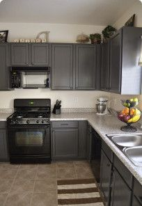 Feature Color: Gray - Kitchen cabinets