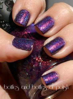 Finger Paints Icy Iris, OPI DS Original, & Nfu Oh 51 ~An Amazing Combination! ~ from Bottles and Bottles of Polish