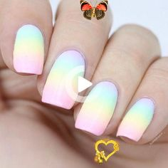 Pin on Nails ♀️  <br> Jul 10, 2020 - This Pin was discovered by Alessandra🐮. Discover (and save!) your own Pins on Pinterest. Rainbow Nails