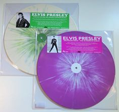 Online veilinghuis Catawiki: Elvis Presley - Great lot of 2 extremely limited (300 each) & handnumbered SPLATTER VINYL LP's! * Jailhouse Rock-The Alternate Album / California Fall 1960/61 Outtakes and Studio Rarities