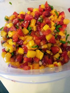 Strawberry Mango Salsa | Join Us, Pull up a Chair
