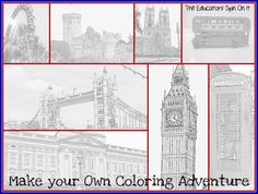 Make your own coloring adventure!  You can create for any place you're learning about!
