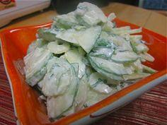 Невыразимая легкость кулинарного бытия...: Салат из огурцов и сельдерея