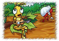 Teatro Infantil: A Cigarra e as Formigas Lembro-me até hoje, a roupinha de formiguinha que minha fez para eu participar do teatrinho... Eu fiquei lindinha rsrsrsrs