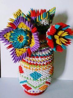 Vase A Fleurs Origamie 3d Fabiola MD