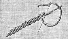 RAISED STEM STITCH. http://encyclopediaofneedlework.com/chapter_15.html#Appliqueacute_work