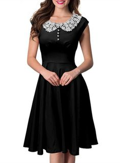 Cheap women dress, Buy Quality midi dress directly from China party dresses Suppliers: 2017 Spring Embroidery Midi Dress Elegant O Neck Stretch Solid Green Patchwork Women Dress Vestidos Sleeveless Party Dress Pretty Outfits, Pretty Dresses, Beautiful Dresses, Vintage Dresses, Vintage Outfits, Vintage Fashion, 1950s Dresses, Retro Fashion, Jw Mode