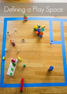 Try defining a small play space to encourage independent play