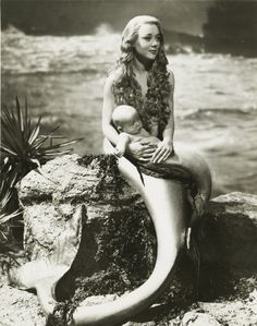 mermaid mom and baby