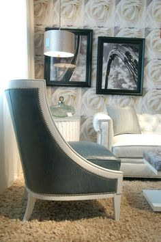 DEXTER Chair Went From Beautiful To Ooh Lala! In This Cloud White Wood  Finish At Highland House Furniture.