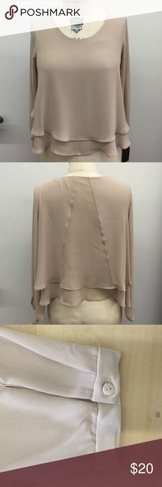 Double Layer Blouse (brand new) Flowy double layer long sleeve blouse. You can dress it up with some pumps or dress it down with jeans and sandals. Bundle up to save! Brand new with tag. No trades. Zara Tops Blouses