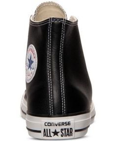 Converse Men's Chuck Taylor All Star Leather Hi Casual Sneakers from Finish Line - Black 10.5