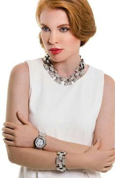 """You Must have """"Wonderland"""" 17"""" Rhinestone Necklace $54. Get the Look Today! At www.tracilynnjewelry.net/jamiebennett"""