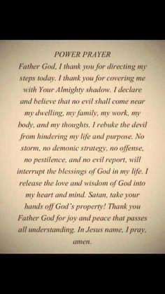 Praying over my life