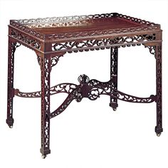 1stdibs - Chinese Chippendale Tea Table