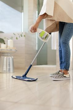The best way to keep your hard surface floors clean and safe is with Bona PowerPlus® Antibacterial Hard-Surface Floor Cleaner. Powered by hydrogen peroxide, this ready to use cleaner is uniquely formulated to powerfully clean and effortlessly remove stubborn stains while killing 99.9% of household germs* and leaving your home smelling fresh and clean. *When used as directed.