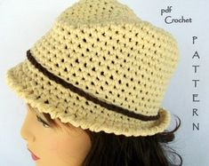 f12b50a222d Crochet Hat Pattern   Crochet Fedora Pattern  Crochet Bucket Hat Pattern   Double the Fun Cloche-Fedora Hat