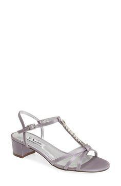 Nina 'Gaelle Gem' Crystal Embellished T-Strap Sandal (Women) available at #Nordstrom