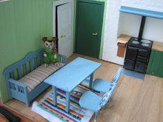 Mine dukkehuse: Tæpper og vandhane i køkkenet - Rugs and faucet in...