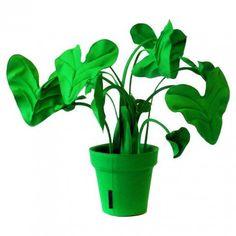 Alocasia vilt-felt plant van Wandschappen