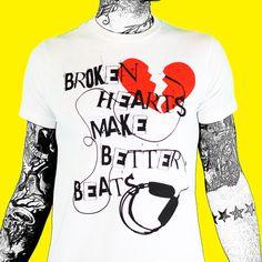 Broken Hearts Make Better Beats White T-Shirt