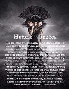 Hecate is the Goddess of Magick and Witchcraft. Her Astrology number is Wherever she is located in your natal chart will imply your strongest Magickal gifts. Her ties to the underworld and dar.
