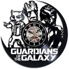 Guardian of Galaxy MARVEL Movie NEW Decorative Vinyl Record Wall Clock #VinylEvolution #Modern