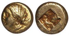 IONIA PHOKAIA 478-387 BC. EL Hekte. - Gold Coins - Coins Greek Antiquity, Electrum, Female Head, Rare Coins, Gold Coins, Antiques, Magnets, Antiquities, Antique