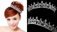 Free Shipping Cube Zircon Crystal Tiara Crown For Bride Quinceanera Crowns Pageant Hair Jewelry WIGO0070-in Hair Jewelry from Jewelry on Aliexpress.com