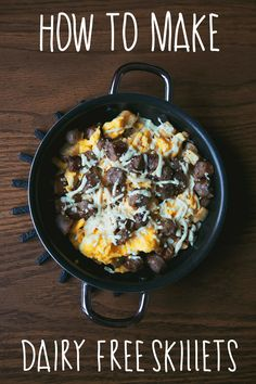 The best Lactose and Dairy Free Breakfast Skillet Recipe.