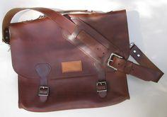 Messenger+Bag+Handcrafted+Satchel+English+Chestnut+Leather
