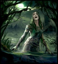 Dziwożona (or Mamuna) is a female swamp demon in Slavic mythology known for being malicious and dangerous ( Polish Mythology )