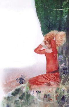 'The Wild Swans'. Illustration by Nadezhda Illarionova