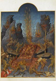 """""""El Infierno"""". Los hermanos Limbourg, (principios del siglo XV)"""